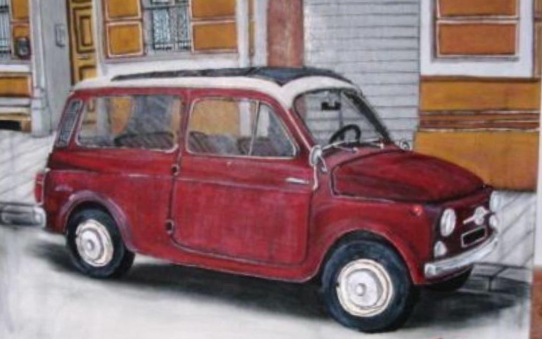 quadro in tela cotone colori acrilici dim. 40×50