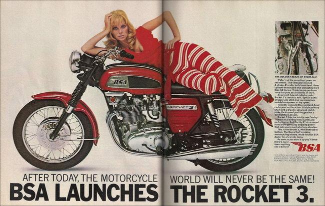 BSA Rocket 3 750: la moto di Flash Gordon