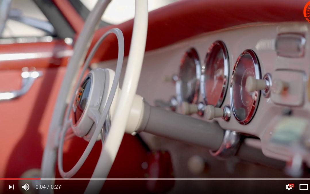 TRAILER Porsche 356 A T1 Cabriolet 1956 a Roma!