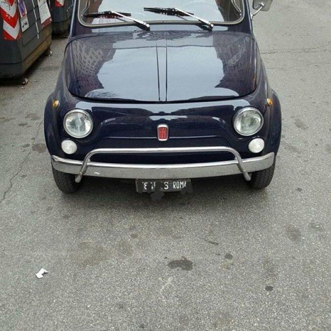 Fiat 500 L targa Roma