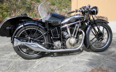 Triumph 500 del 1932 con sidecar