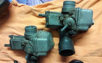 Carburatori Dell'Orto più specchi per Guzzi V35 imola